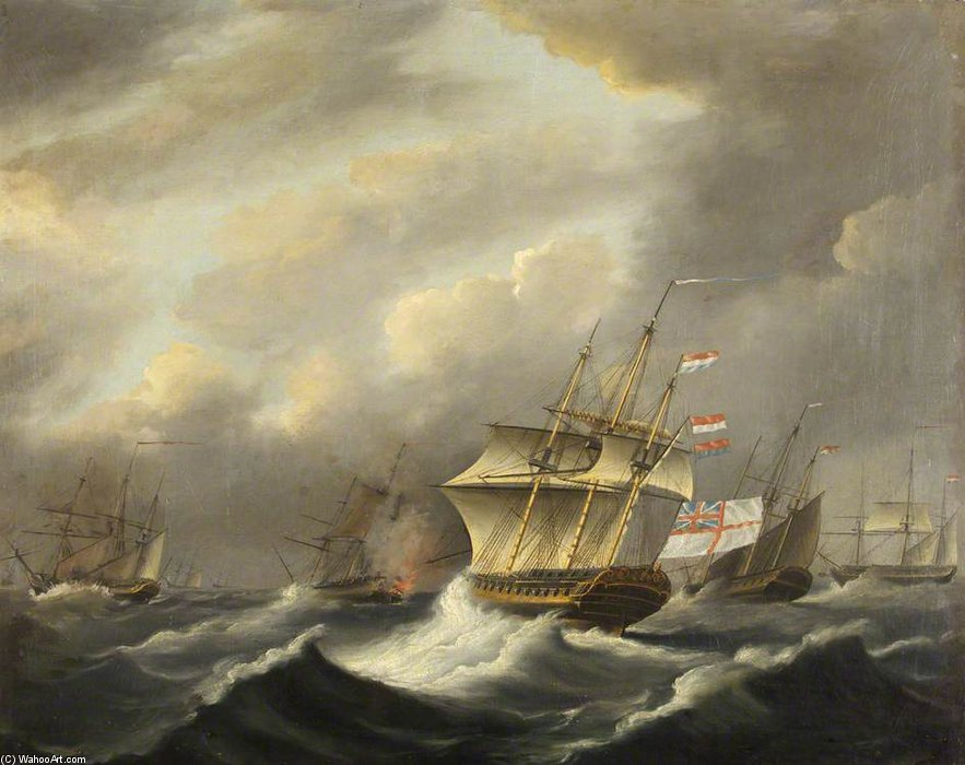Hms 'daedalus' by Thomas Buttersworth (1768-1842, United Kingdom)