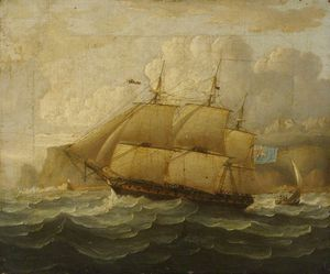 Thomas Buttersworth - Hms -leander- At Sea