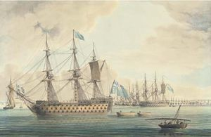 Thomas Buttersworth - The Blockading Fleet Off Cadiz..