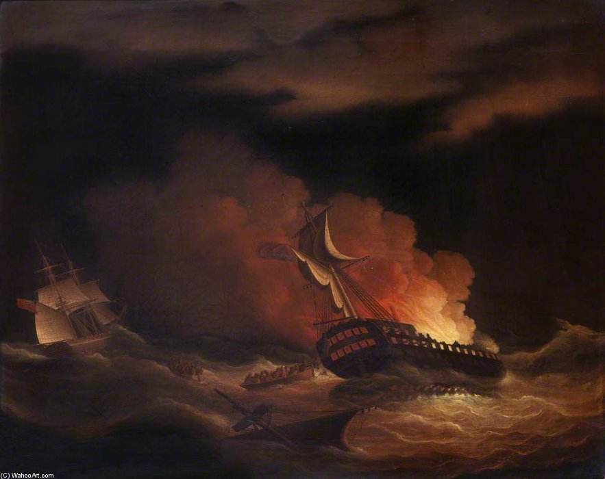 The Loss Of The East Indiaman 'kent' In The Bay Of Biscay by Thomas Buttersworth (1768-1842, United Kingdom)