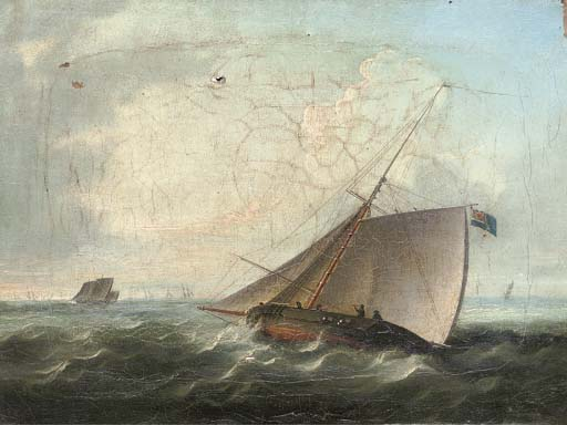 The Pursuit - by Thomas Buttersworth (1768-1842, United Kingdom)