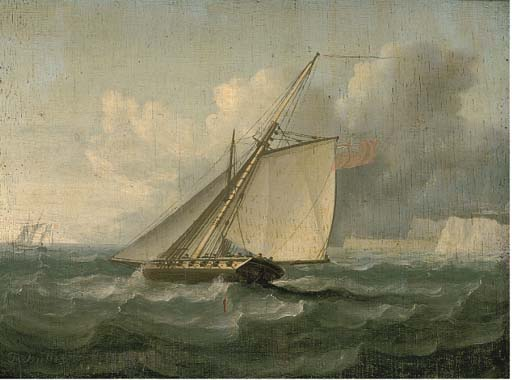 The Pursuit by Thomas Buttersworth (1768-1842, United Kingdom) | Oil Painting | ArtsDot.com
