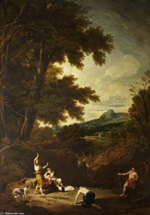 Classical Landscape With Diana And Actaeon by William Owen (1769-1825, United Kingdom) | ArtsDot.com