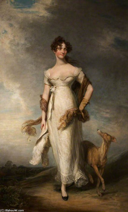 Order Painting Copy : Georgiana Mari, Lady Leicester by William Owen (1769-1825, United Kingdom) | ArtsDot.com