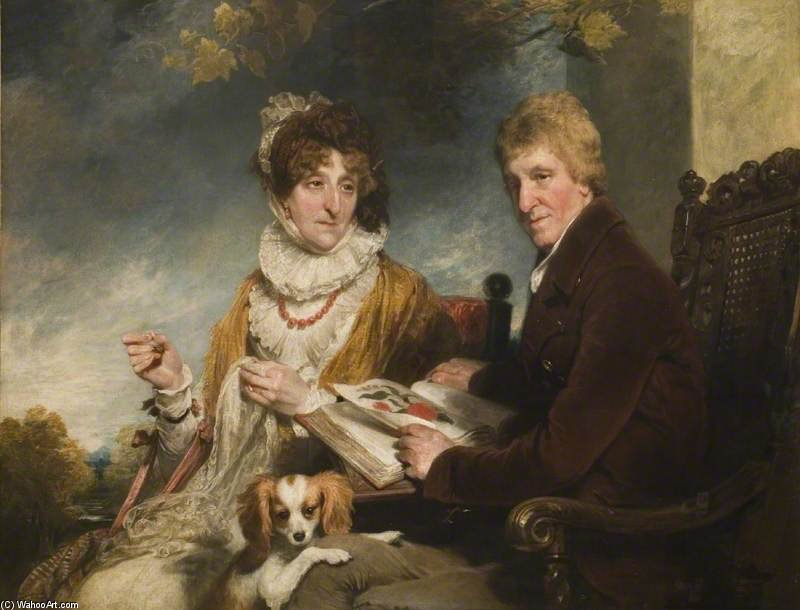 Portrait Of A Man And A Woman by William Owen (1769-1825, United Kingdom) | Museum Quality Reproductions | ArtsDot.com