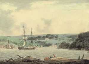 William Payne - Belle Vue From The Passage At Cap Down, River Tamar, Cornwall