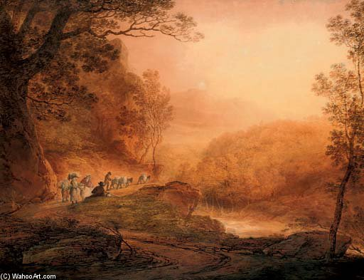 Travellers Gossiping At The Wayside by William Payne (1760-1830, United Kingdom) | ArtsDot.com
