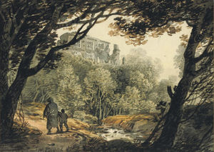 William Payne - View Of Bury Castle, Near Totnes, Devon