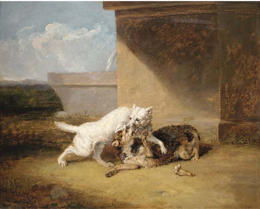 A Dog-fight by Abraham Cooper (1787-1868, United Kingdom)