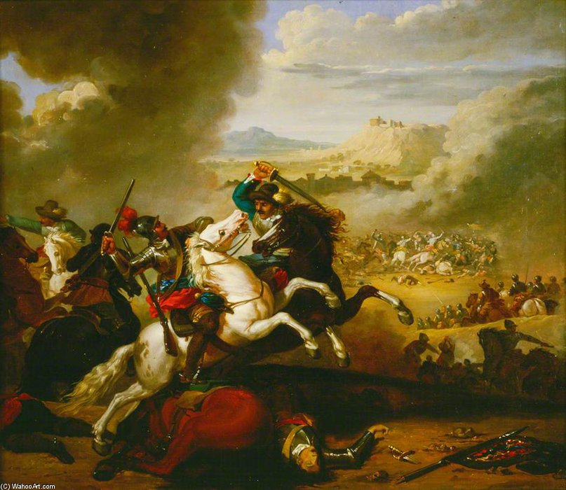 Battle Piece by Abraham Cooper (1787-1868, United Kingdom)