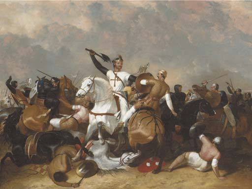Richard I At The Battle Of Ascolan by Abraham Cooper (1787-1868, United Kingdom)