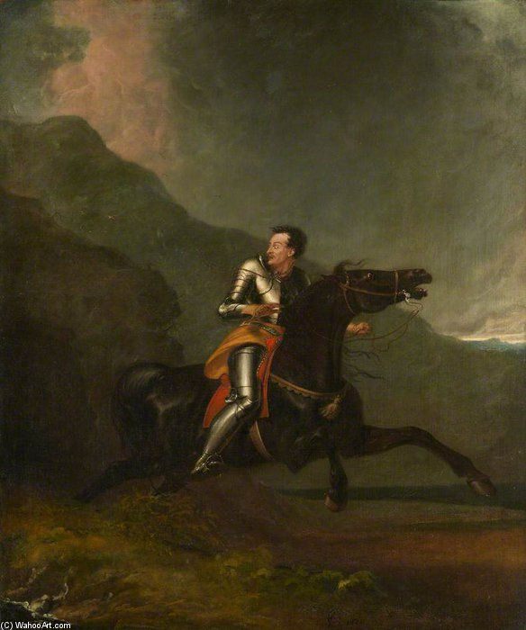 Sir Trevisan Fleeing From Despair by Abraham Cooper (1787-1868, United Kingdom)