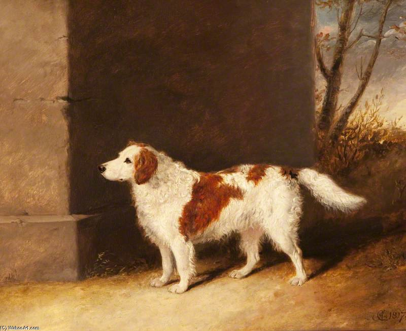 The Favourite Dog Of Lord Charles Vere Ferrers Townshend by Abraham Cooper (1787-1868, United Kingdom)