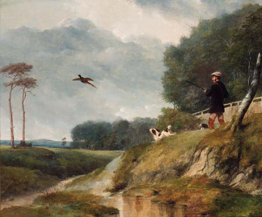 The Pheasant Shoot by Abraham Cooper (1787-1868, United Kingdom)