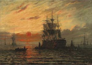Adolphus Knell - The Flagship At Dusk