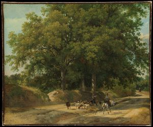 Auguste Xavier Leprince - A Shepherd And A Rider On A Co..
