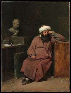 Auguste Xavier Leprince - Man in Oriental Costume in the..