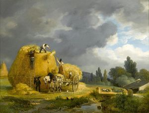 Auguste Xavier Leprince - The Harvest