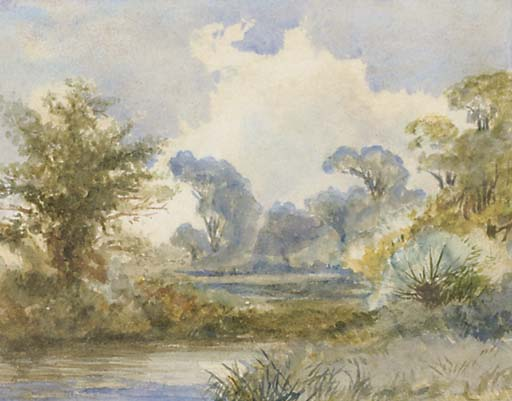 A River Landscape by Frederick Waters Watts (1800-1870, United Kingdom)