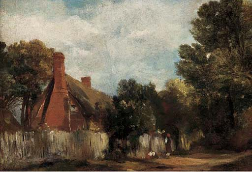 Farmhouse At Hill's Crest, East Bergholt by Frederick Waters (William) Watts (1800-1870, United Kingdom)
