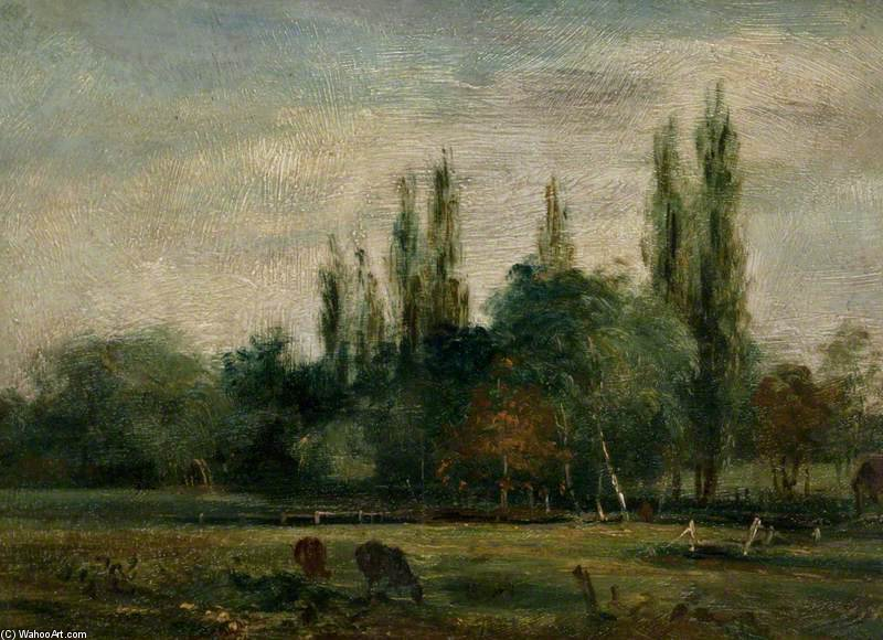 In The Meadows by Frederick Waters Watts (1800-1870, United Kingdom)