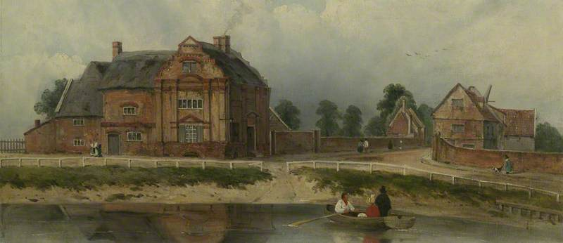 King's Hall, Wisbech by Frederick Waters (William) Watts (1800-1870, United Kingdom)