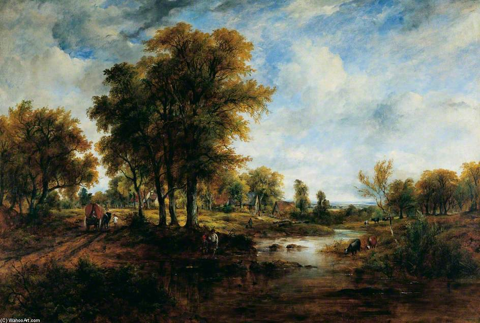 Landscape - by Frederick Waters Watts (1800-1870, United Kingdom)