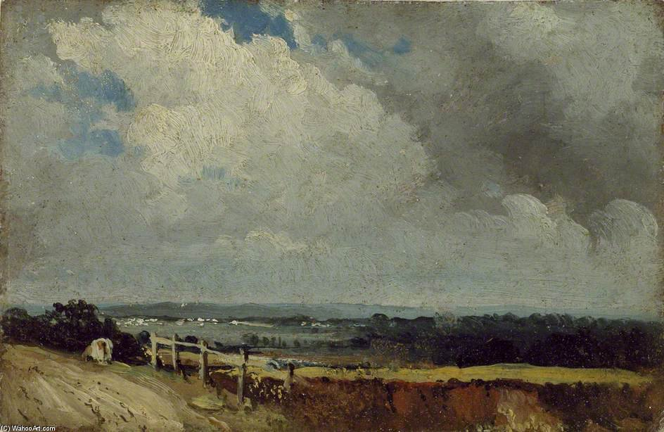 Near Epsom by Frederick Waters (William) Watts (1800-1870, United Kingdom)