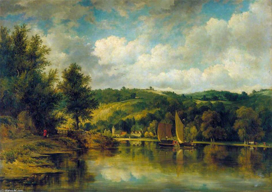 On The Wye by Frederick Waters (William) Watts (1800-1870, United Kingdom)
