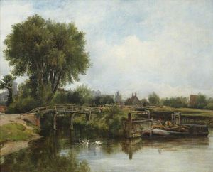 Frederick Waters Watts - The Old Lock, Windsor