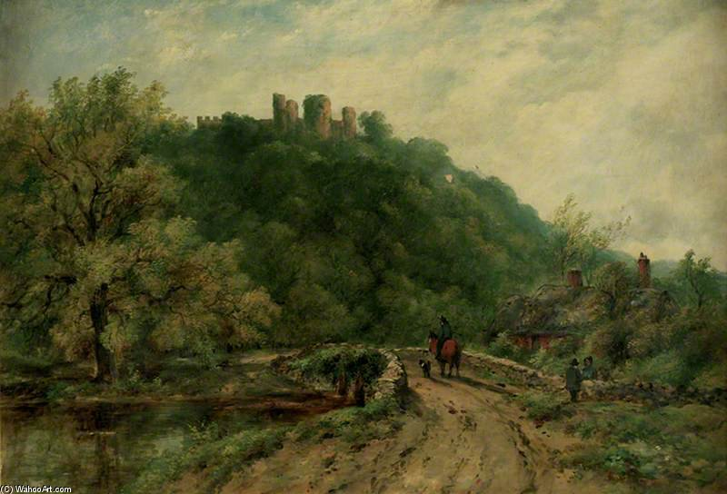 Wooded Landscape With The Ruins Of A Castle by Frederick Waters (William) Watts (1800-1870, United Kingdom)