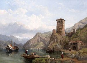 George Clarkson Stanfield - Lake Garda