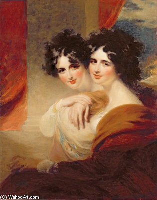 Anna Et Catherine Lopoukhine - by George Henry Harlow (1787-1819, United Kingdom)