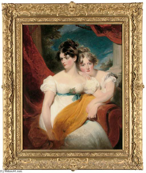 Double Portrait Of Marianne Anna Maria Gooch by George Henry Harlow (1787-1819, United Kingdom) | Oil Painting | ArtsDot.com