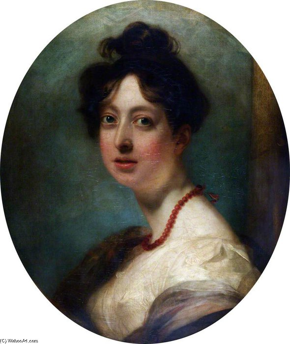 Miss Anne Harlow, Sister Of The Painter by George Henry Harlow (1787-1819, United Kingdom) | Painting Copy | ArtsDot.com