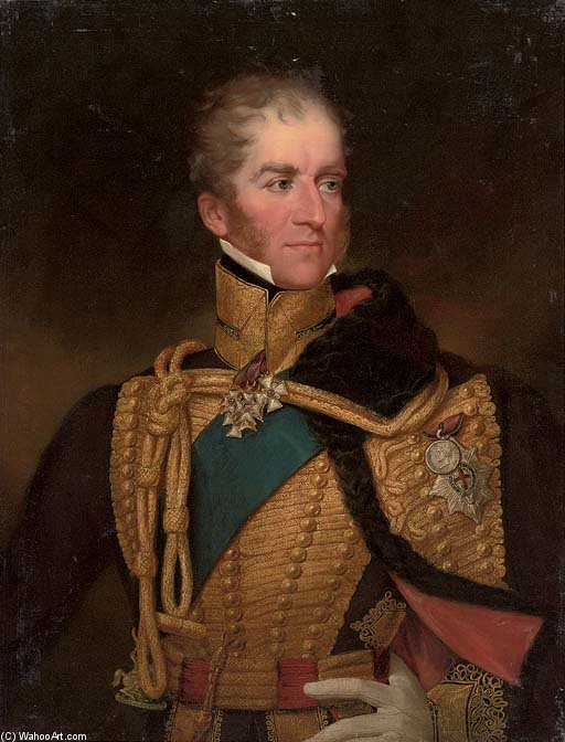 Portrait Of A Colonel In Chief Of The British Hussar's Regiment by George Henry Harlow (1787-1819, United Kingdom)