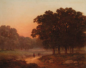 James Arthur O Connor - A Wooded Landscape With F..