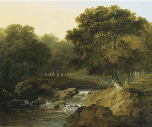 A Wooded River Landscape by James Arthur O Connor (1792-1841, Ireland) | Museum Quality Reproductions | ArtsDot.com