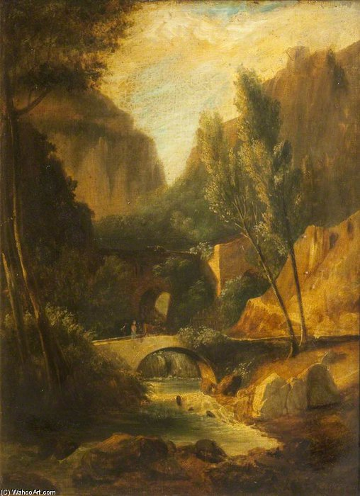 In The Swiss Alps by James Arthur O Connor (1792-1841, Ireland) | Museum Art Reproductions | ArtsDot.com
