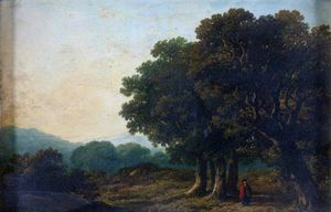 James Arthur O Connor - Landscape With Trees In The Foreground And Distant Hills