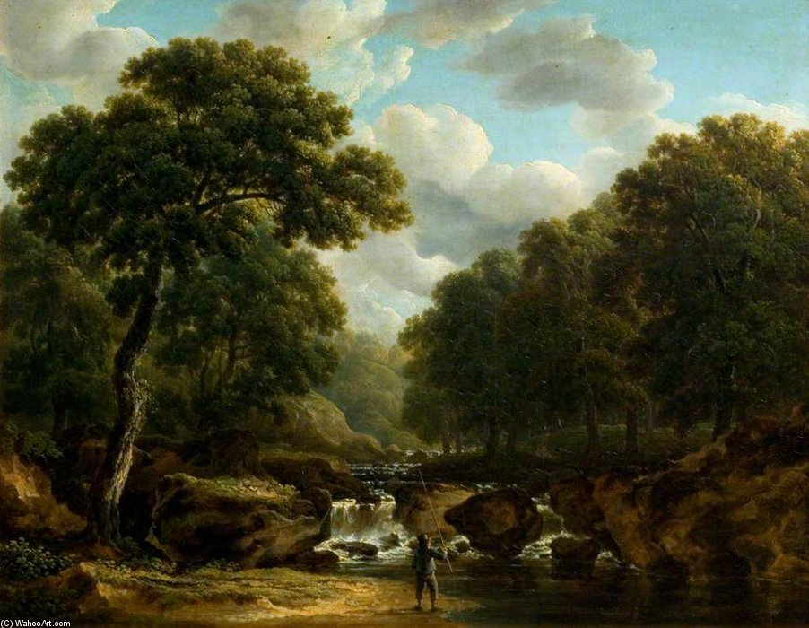 The Devil`s Glen, County Wicklow by James Arthur O Connor (1792-1841, Ireland) | Painting Copy | ArtsDot.com