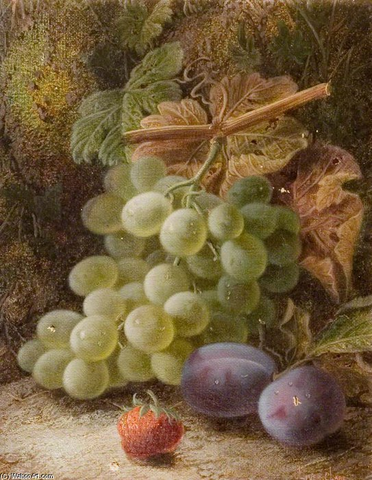 A Bunch Of Grapes by Oliver Clare (1853-1927, United Kingdom)
