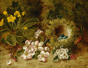 Oliver Clare - Apple Blossoms, A Primrose And..