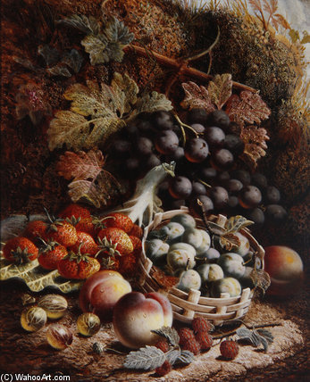 Still Life Of Fruit Ii by Oliver Clare (1853-1927, United Kingdom)