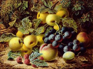 Oliver Clare - Still Life With Apples, Plums,..