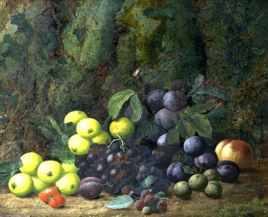 Still Life With Fruit by Oliver Clare (1853-1927, United Kingdom)