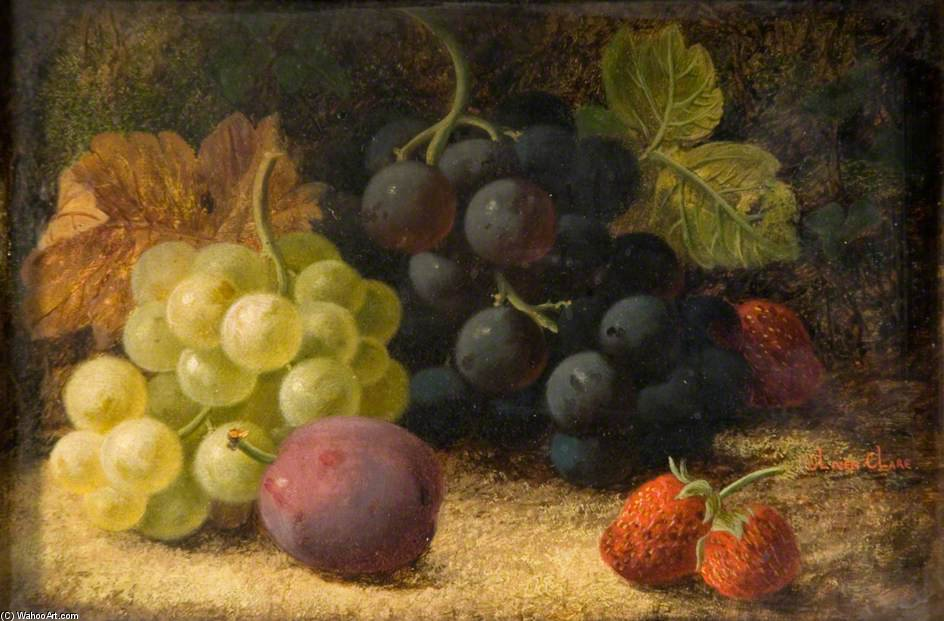 Still Life, Fruit - by Oliver Clare (1853-1927, United Kingdom)