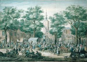 Paulus Constantin La Farg.. - Market In The Hague