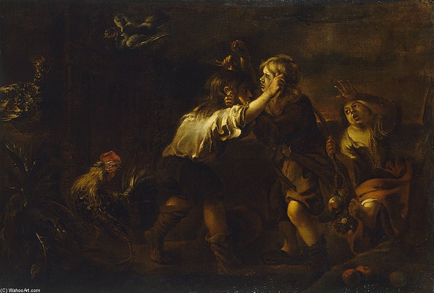 The Brawl by Pedro Núñez De Villavicencio (1644-1695, Spain)