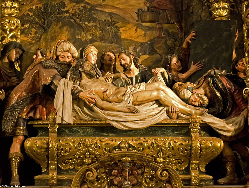 Entombment Of Christ, Hospital De La Caridad, Seville by Pedro Roldan (1624-1699)